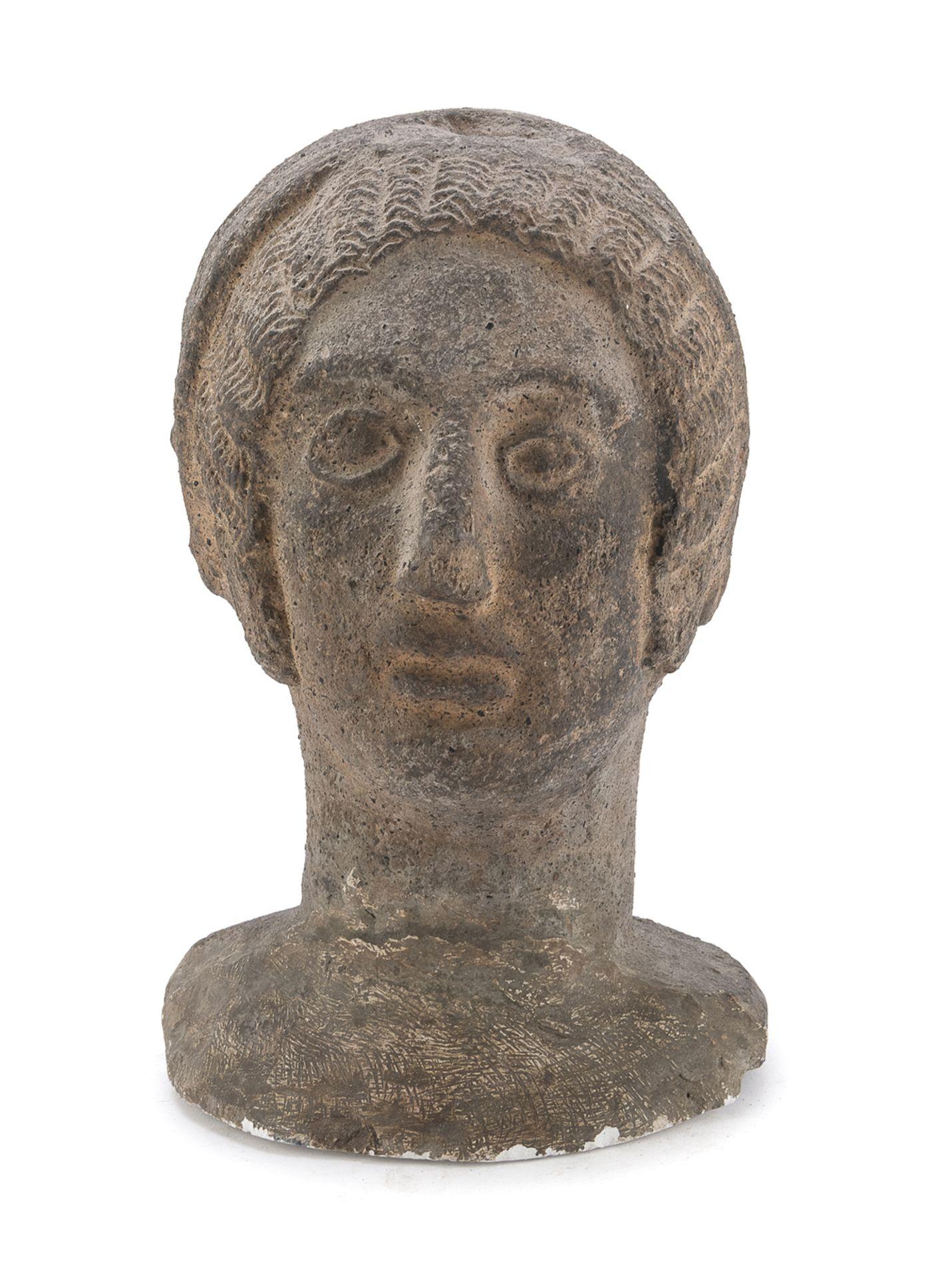 FEMALE HEAD ETRUSCAN STYLE 20th CENTURY