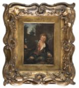 OIL PAINTING YOUNG MAN BY FLEMISH PAINTER EARLY 19TH CENTURY