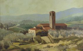 OIL PAINTING OF A LANDSCAPE OF THE 20TH CENTURY