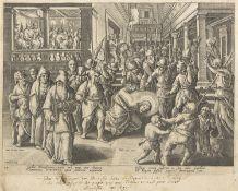 MOCKED CHRIST 16TH CENTURY ENGRAVING