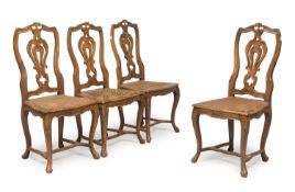 FOUR VENETIAN STYLE CHAIRS 20TH CENTURY