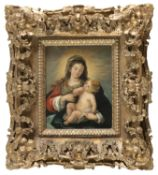 OIL PAINTING OF THE MADONNA WITH CHILD OF THE 20TH CENTURY