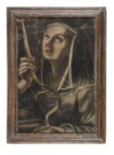 PAINTED NUN OF THE 17TH CENTURY