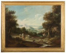 OIL PAINTED PRINT OF LANDSCAPE 20TH CENTURY