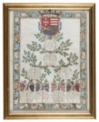 MINIATED FAMILY TREE NEAPOLITAN FAMILIES EARLY 20TH CENTURY