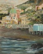 OIL PAINTING OF POSITANO BY ENRICO APRILE