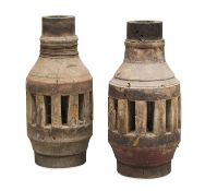 TWO APULIAN CARRIAGE LAMPS 19TH CENTURY