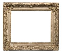 FRENCH LOUIS XV STYLE FRAME IN GILTWOOD AND PLASTER 19TH CENTURY