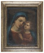 OIL PAINTING MADONNA AND CHILD 19TH CENTURY