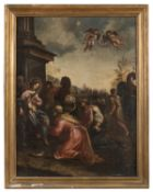 OIL PAINTING THE ADORATION OF THE MAGI BY FRANCESCO FONTEBASSO