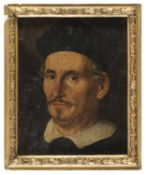 OIL PORTRAIT OF PRELATE IN 17TH CENTURY MANNER