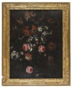 TUSCAN OIL PAINTING OF FLOWERS 17TH CENTURY