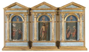 TRIPTYCH OF 15TH CENTURY MANNER 19TH CENTURY