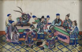 CHINESE SCHOOL 20TH CENTURY. A PAIR OF MIXED MEDIA ON PAPER