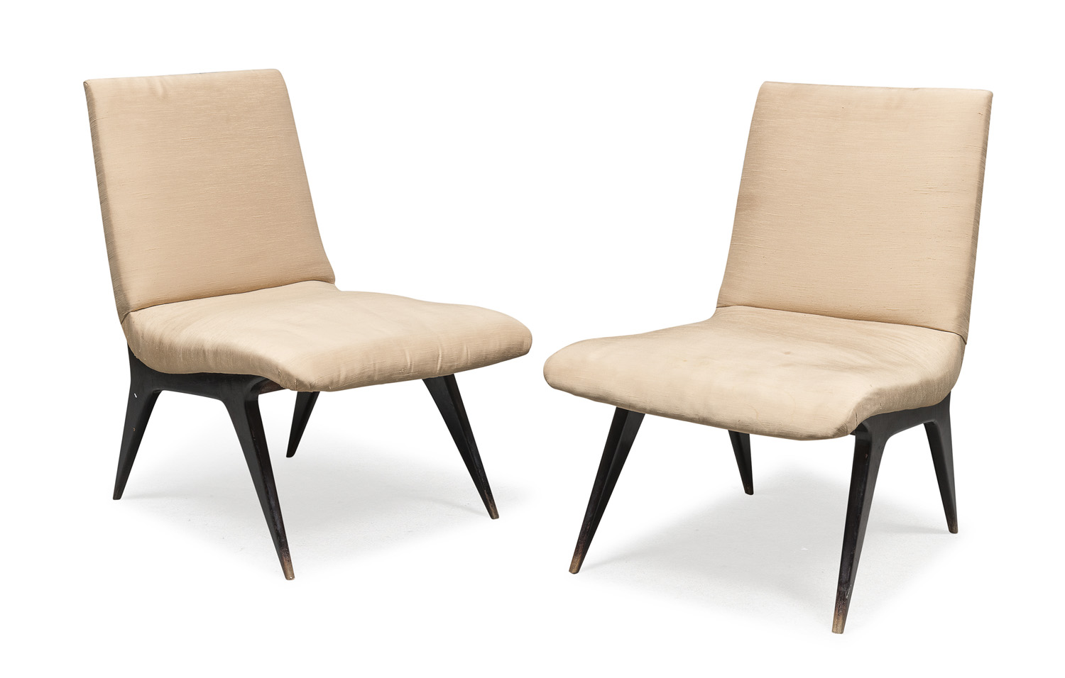 PAIR OF WOOD CHAIRS ULRICH LATE 1940s