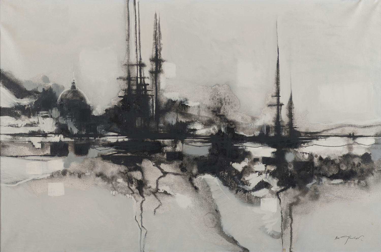 OIL PAINTING BY MAX GUNTHER 1967