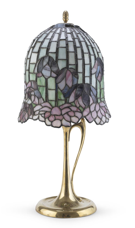 TABLE LAMP TIFFANY STYLE 1960s