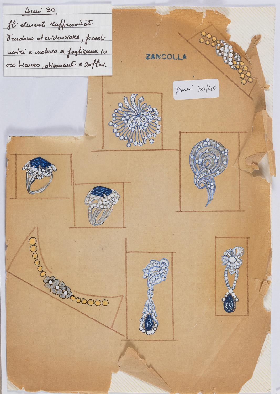 MIXED MEDIA BY CESARE ZANCOLLA 1930/40's