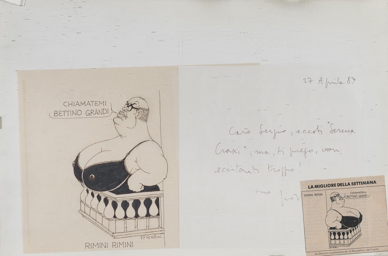 INK CARTOON BY GIORGIO FORATTINI 1987