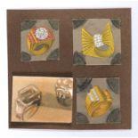 FOUR MIXED MEDIA BY CESARE ZANCOLLA 1940's