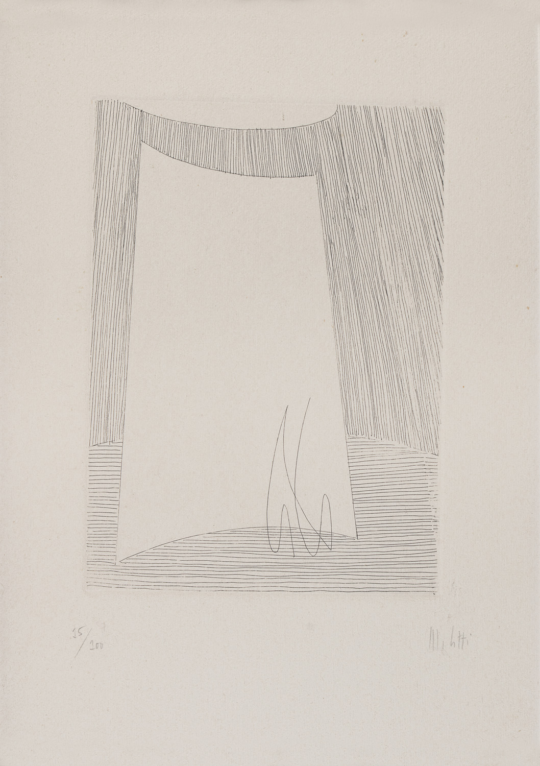 TWO ENGRAVINGS BY FAUSTO MELOTTI 1977 - Image 2 of 2