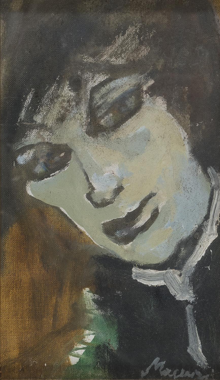 OIL PORTRAIT BY MINO MACCARI 1950's