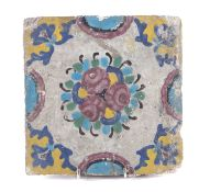 PAINTED TILE 19TH CENTURY