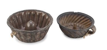 TWO TERRACOTTA CAKE MOLDS 19TH CENTURY
