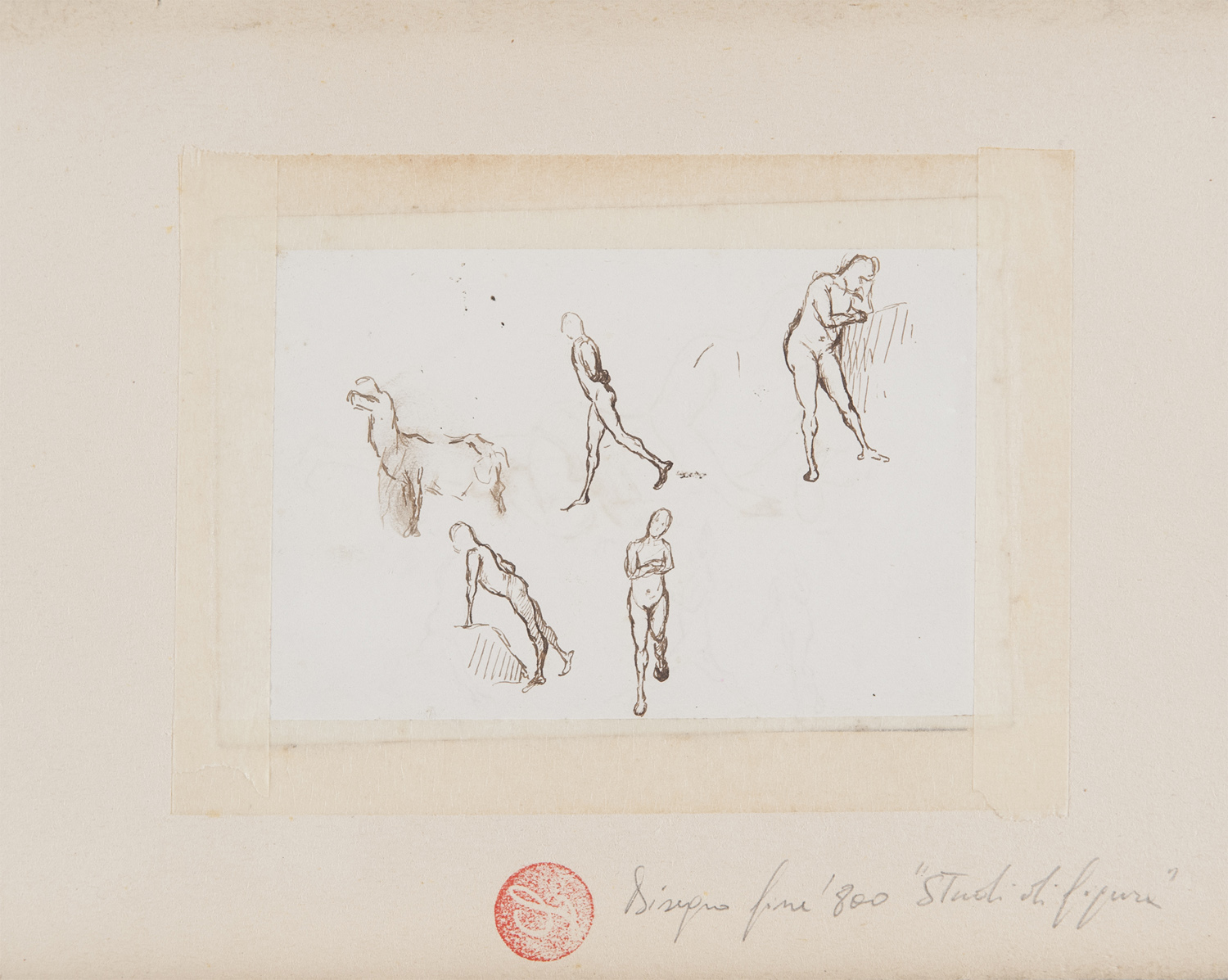ITALIAN INK DRAWING EARLY 20TH CENTURY - Image 2 of 2