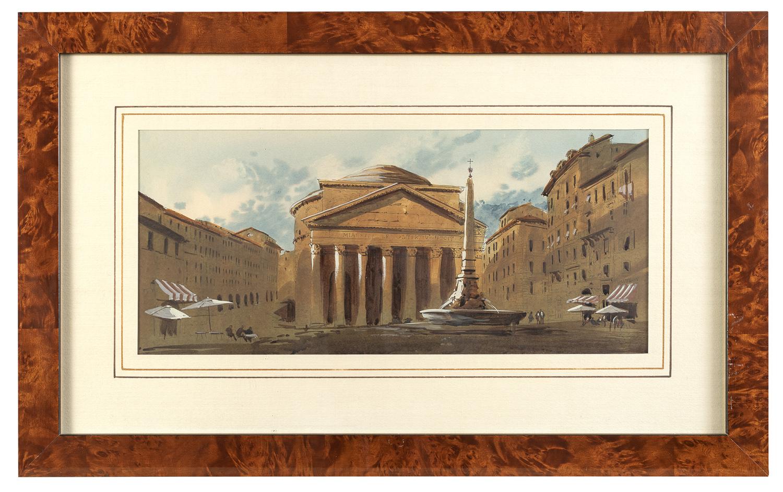 ROMAN WATERCOLOR 20TH CENTURY