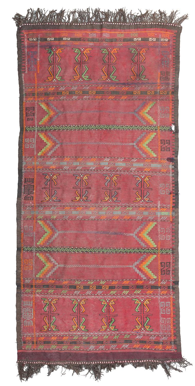 RARE NOMADE CARPET PROBABLY MONGOLIAN 19TH CENTURY