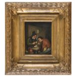A PAIR OF DUTCH OIL PAINTINGS 19TH CENTURY