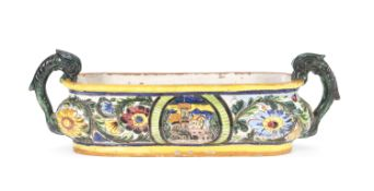 CENTERPIECE IN MAJOLICA EARLY 20TH CENTURY