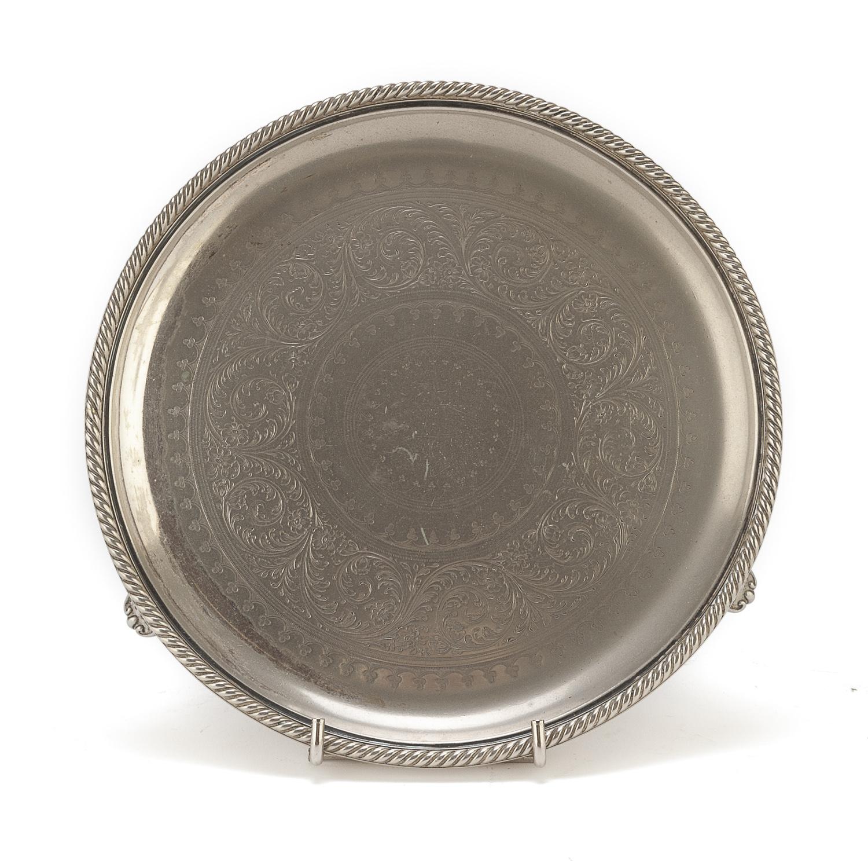 SILVER-PLATED SALVER BIRMINGHAM 1851