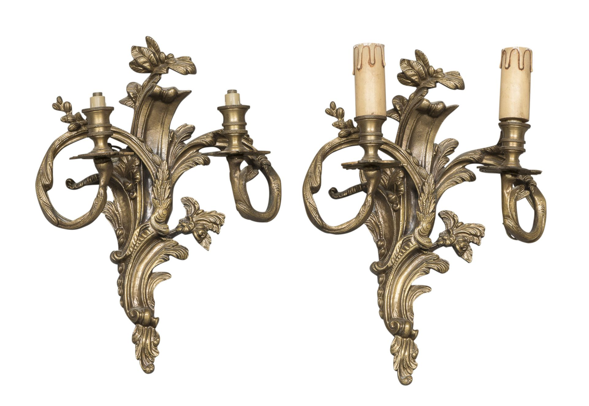 PAIR OF BRONZE APPLIQUES EARLY 20TH CENTURY