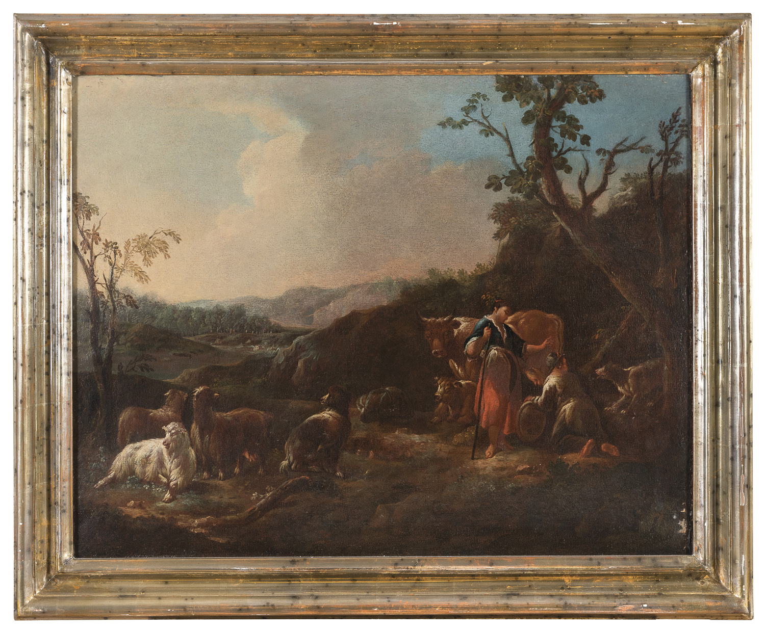 A PAIR OF VENETO OIL PAINTINGS 18th CENTURY - Image 2 of 2