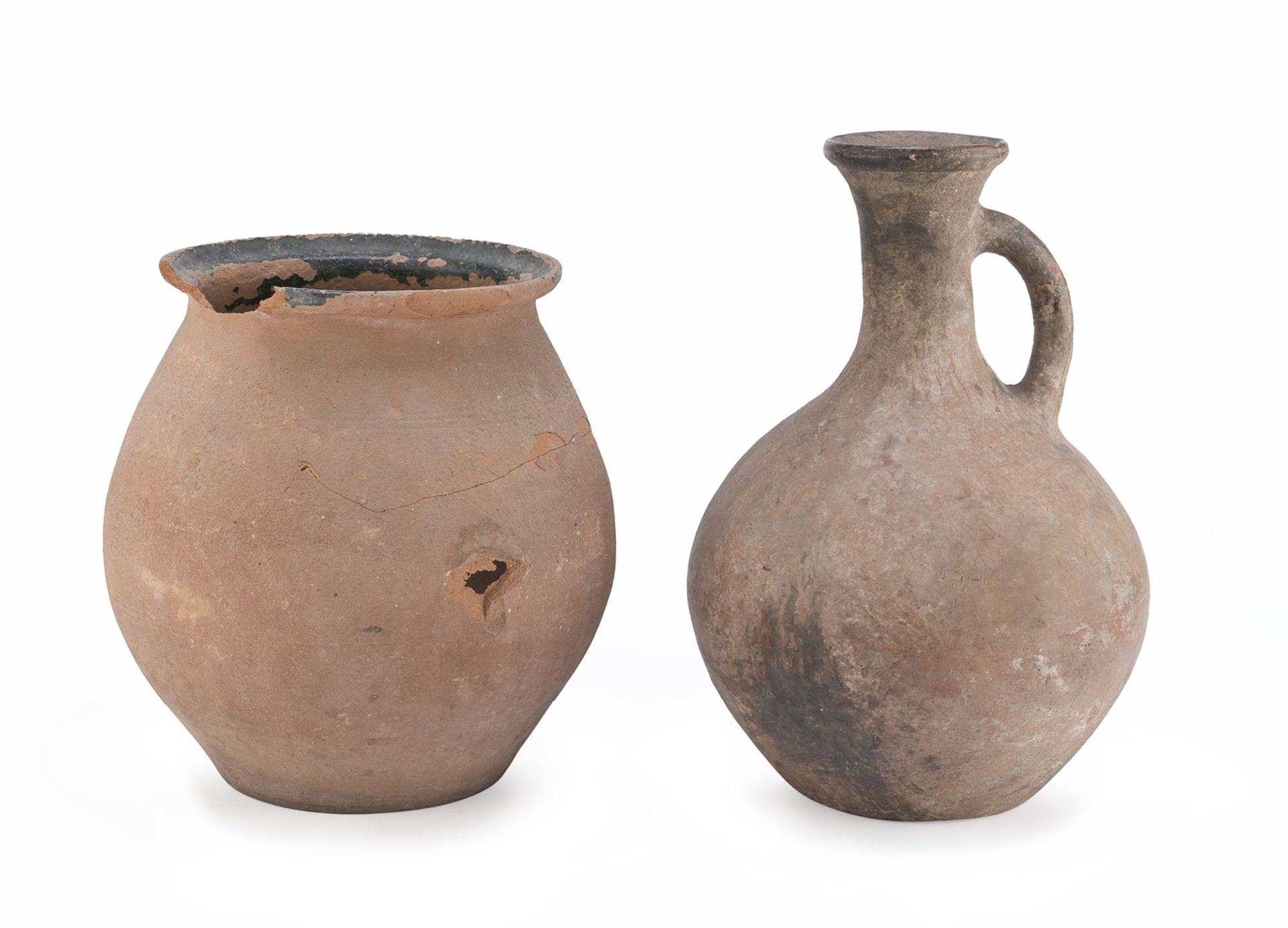 TERRACOTTA JUG AND JAR EARLY 20TH CENTURY