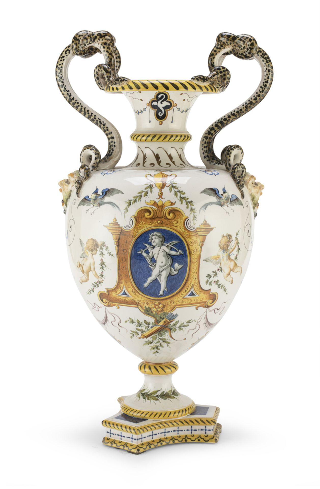 CERAMIC VASE GINORI MID 19th CENTURY