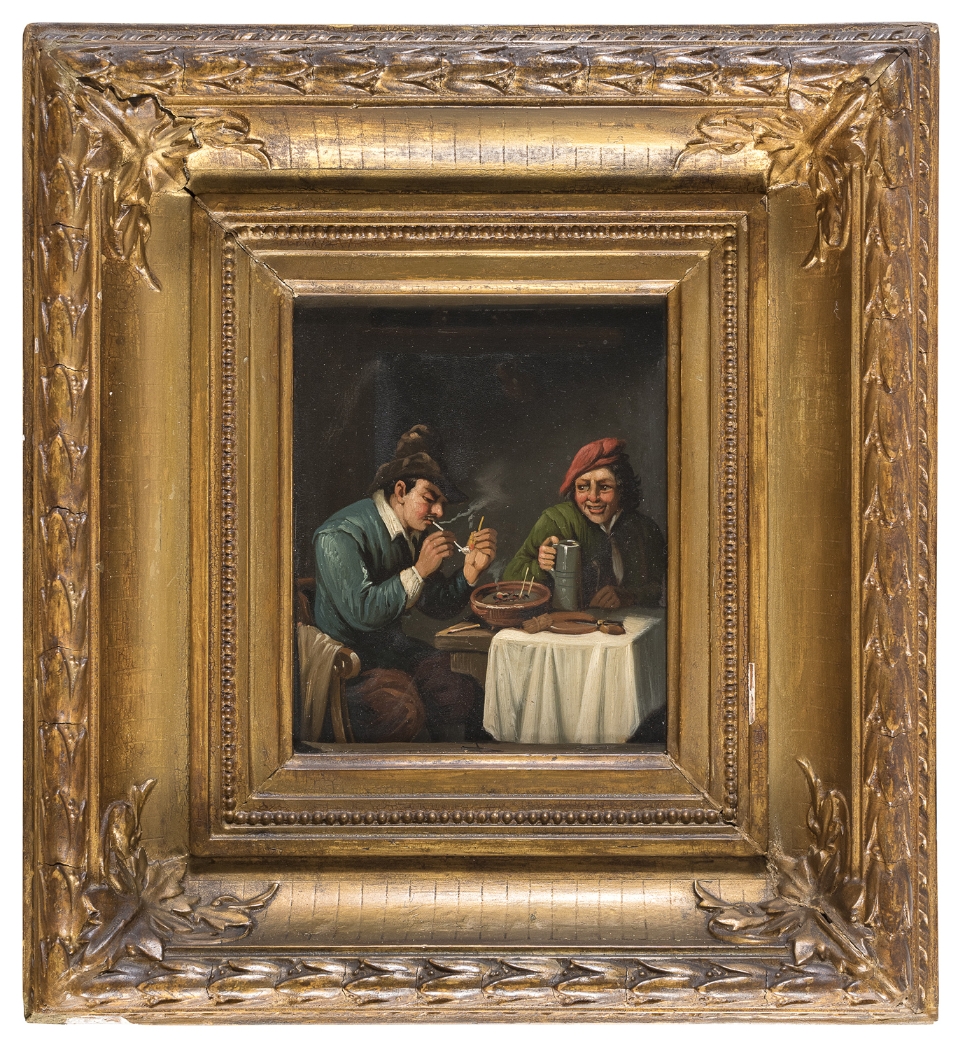 A PAIR OF DUTCH OIL PAINTINGS 19TH CENTURY - Image 2 of 2