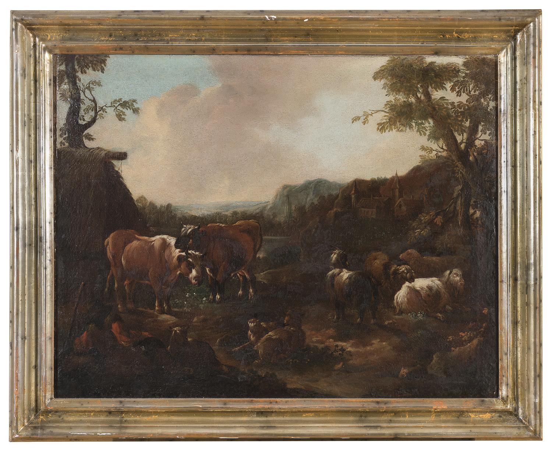 A PAIR OF VENETO OIL PAINTINGS 18th CENTURY