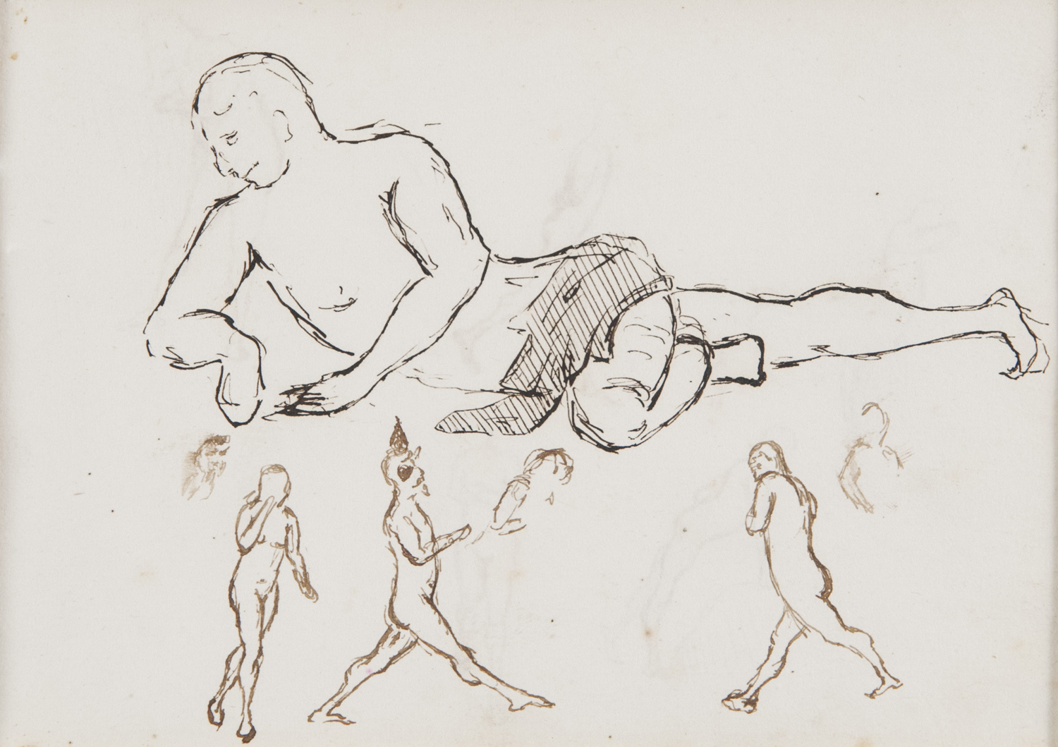 ITALIAN INK DRAWING EARLY 20TH CENTURY