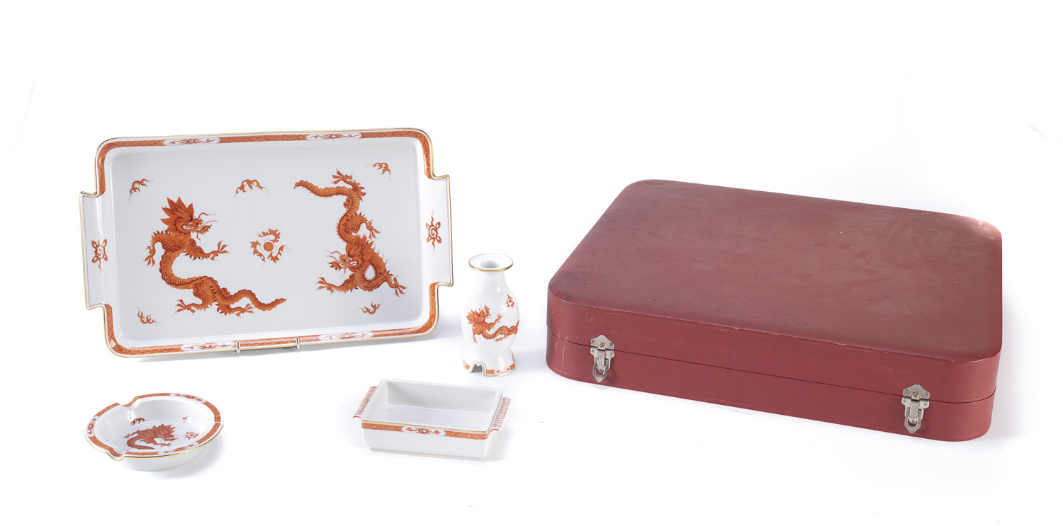 RARE SMOKE SET IN PORCELAIN MEISSEN EARLY 20TH CENTURY - Image 2 of 2