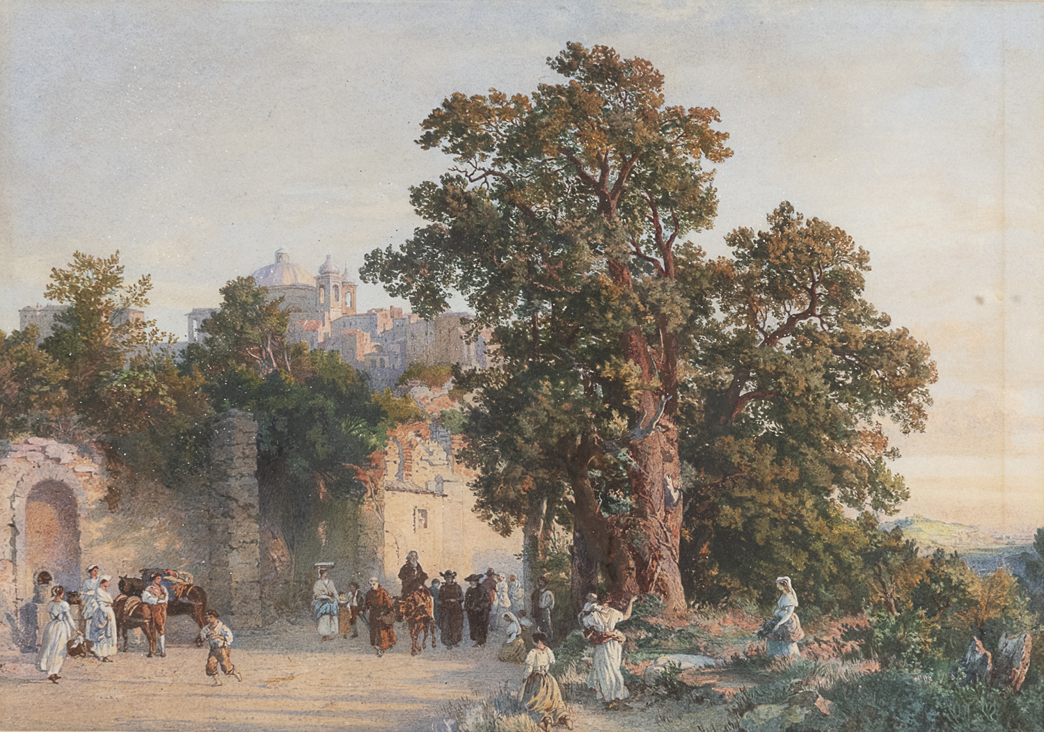 WATERCOLOUR BY JEAN ACHILLE BENOUVILLEattr. to 19TH CENTURY