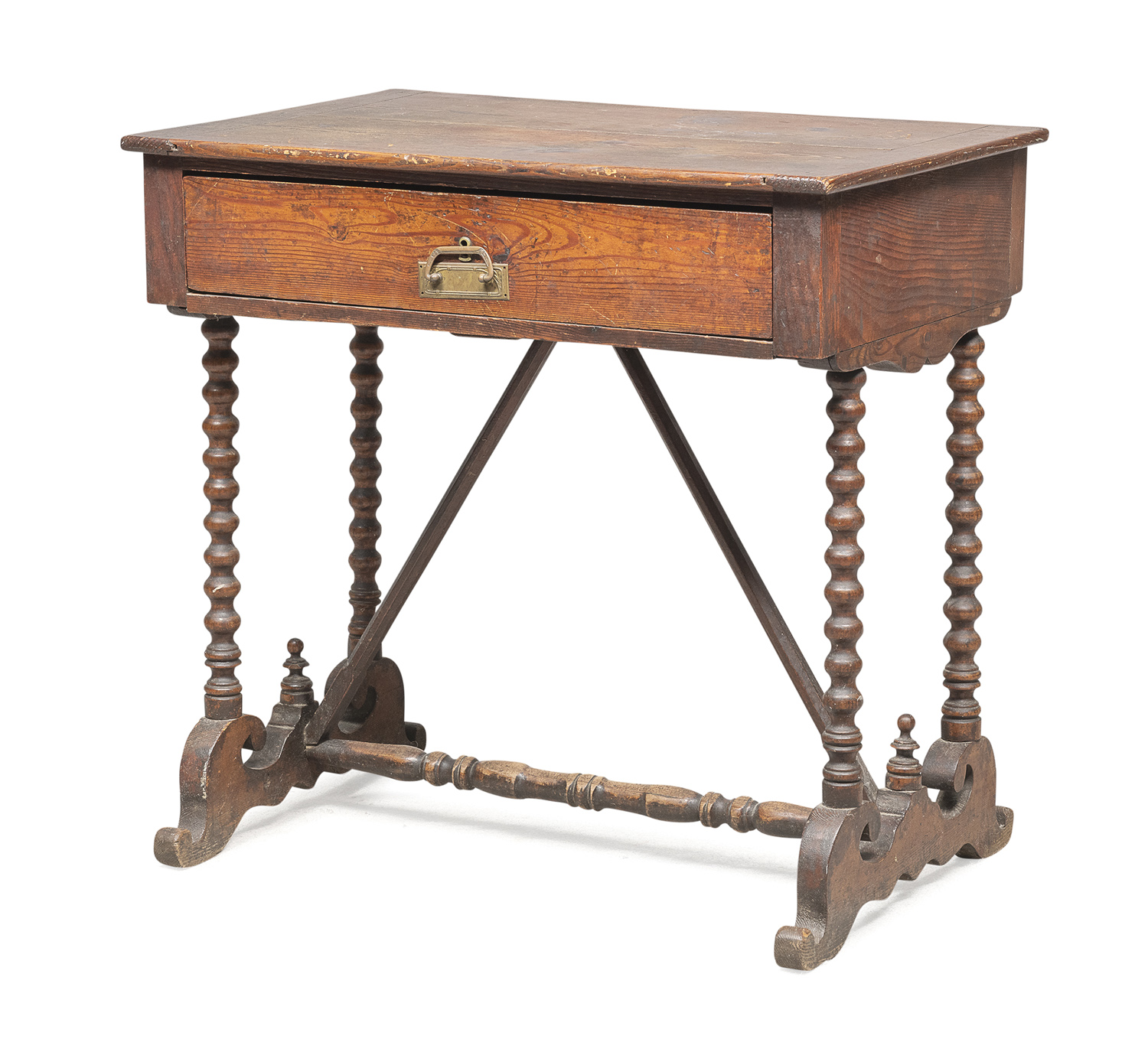 WORK TABLE IN WALNUT STAINED WOOD 19th CENTURY