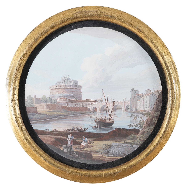 PAIR OF ITALIAN OIL PAINTINGS LATE 19TH CENTURY - Image 2 of 2