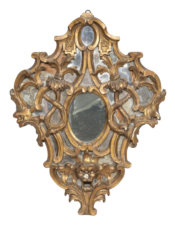 GILTWOOD MIRROR 18th CENTURY