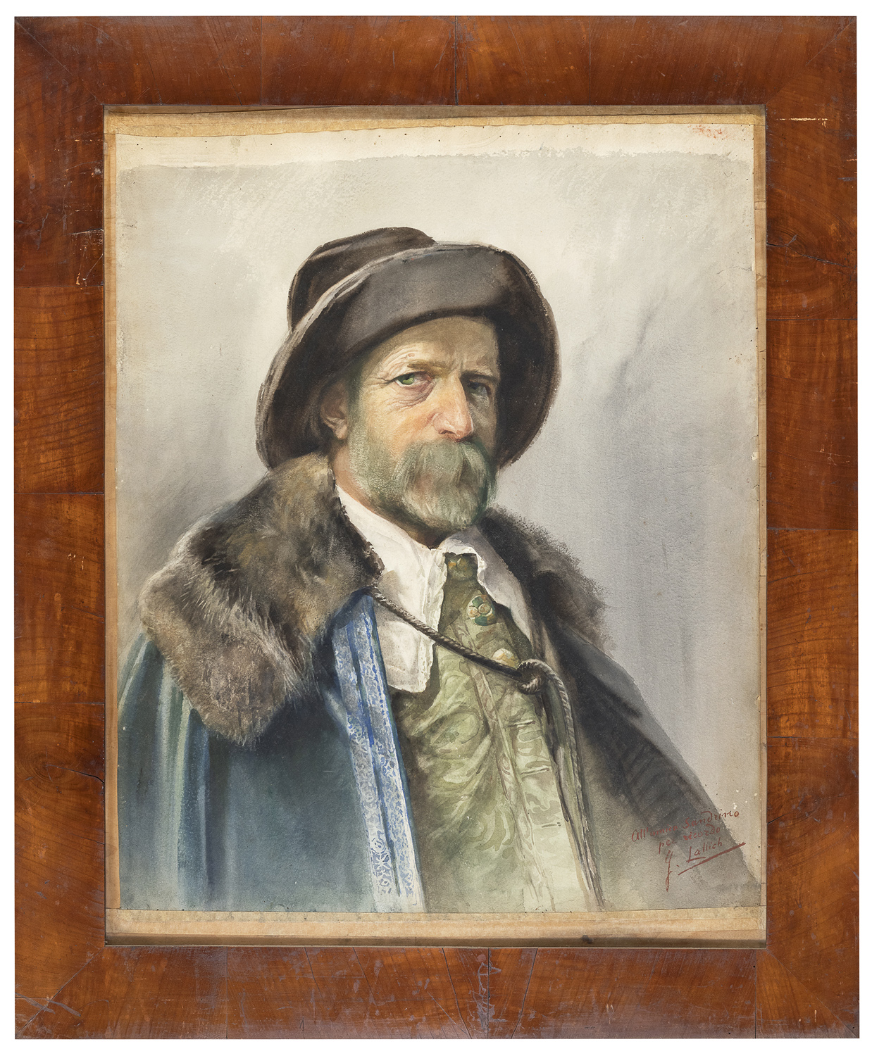 WATERCOLOUR BY GIUSEPPE LALLICH 19TH-20TH CENTURY