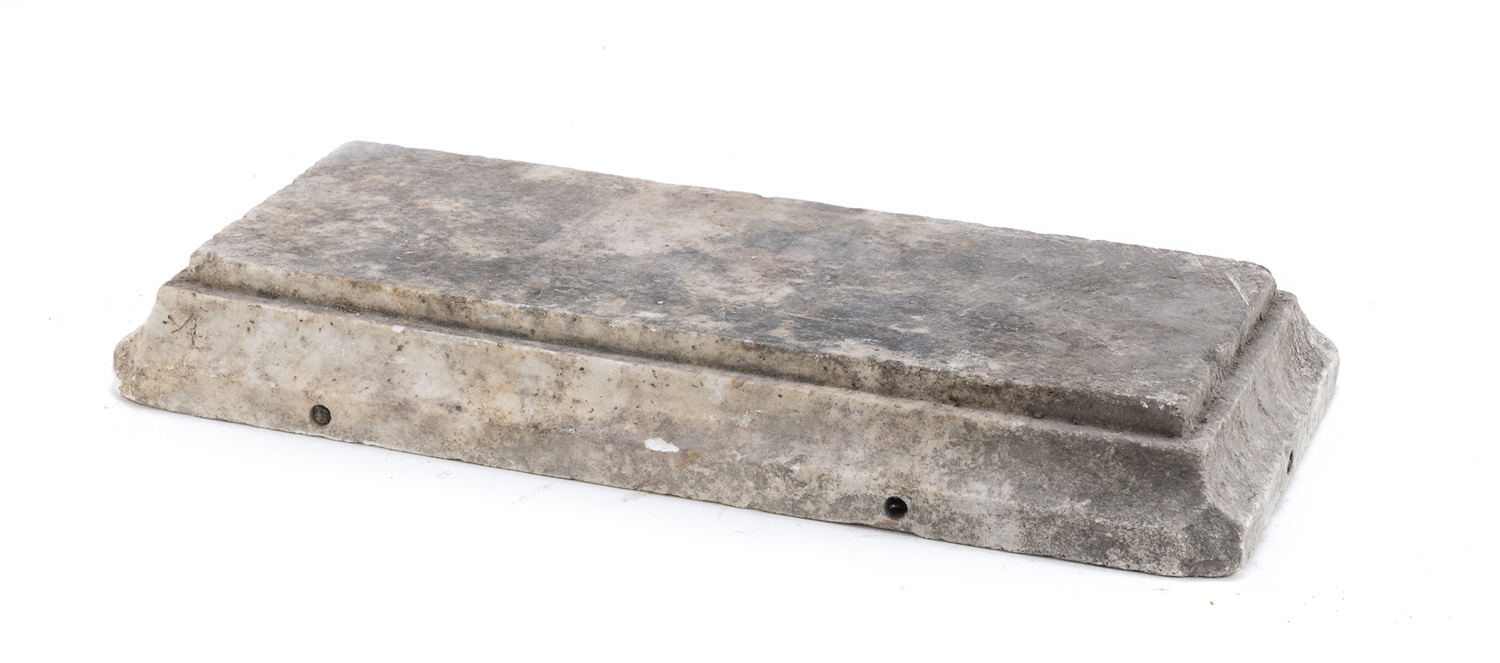 SMALL BASE IN WHITE MARBLE LATE 18th CENTURY