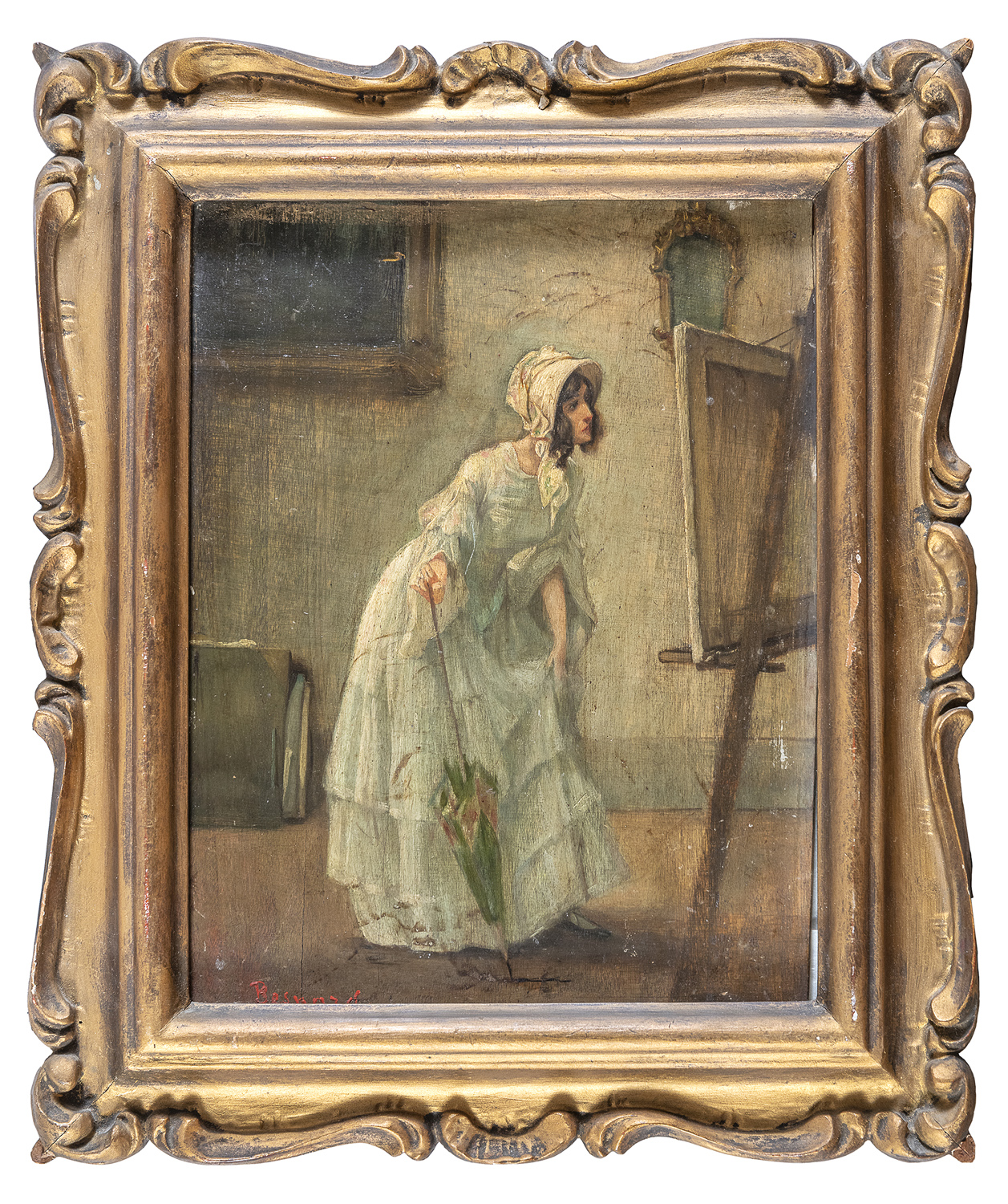 OIL PAINTING BY ALBERT BESNARD ? 19th-20th CENTURY