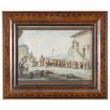 WATERCOLOUR BY BARTOLOMEO PINELLI 19TH CENTURY